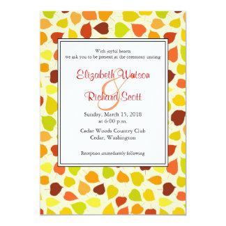 Linden tree Autumn wedding invitation