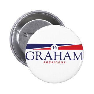 "Lindsey Graham 2016 Campaign Button - 2.25"" Round"