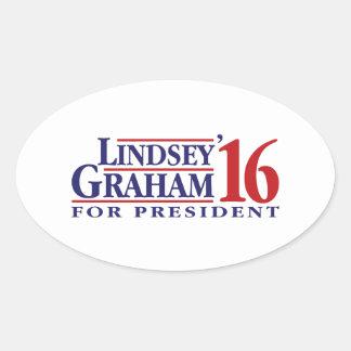 Lindsey Graham for President Oval Sticker