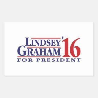Lindsey Graham for President Rectangular Sticker