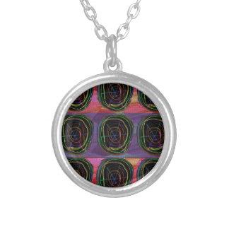 Line Art Circles Round Spark Abstract Elegant Gift Pendant