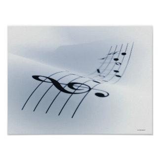 Line of Music Poster