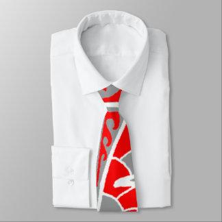 LineA Gray Red Tattoo Tie