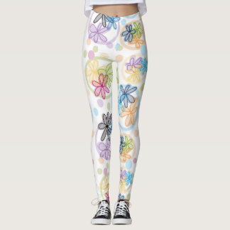 Linear Floral Leggings