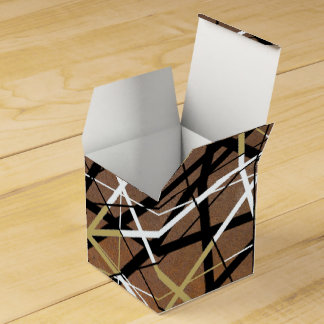 LINEAR rust Wedding Favour Boxes