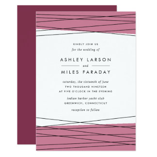 Lineation Wedding Invitation | Marsala