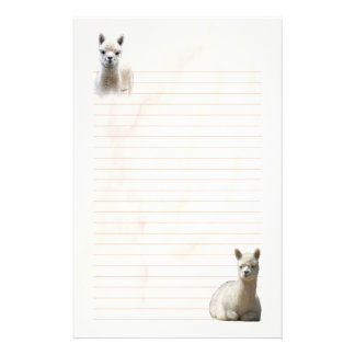 Lined Alpaca Stationery