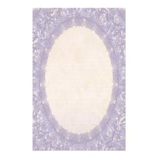 Lined Monogram Purple I Wedding Lace Stationery