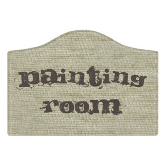 Linen Canvas seamless pattern 4 + your ideas Door Sign