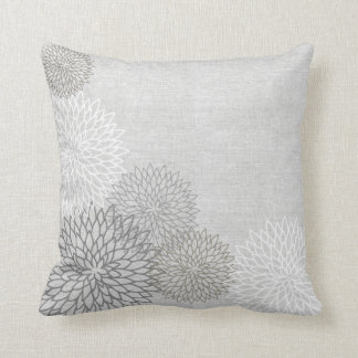 Linen Floral Decorator Accent Pillow Throw Cushion