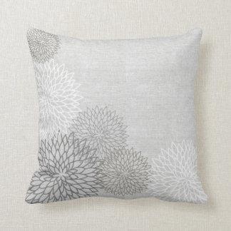 Linen Floral Decorator Accent Pillow Throw Cushion
