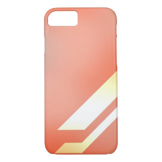 Lines and Colors Orange iPhone 7 Case