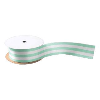 Lines Design Light Mint Satin Ribbon