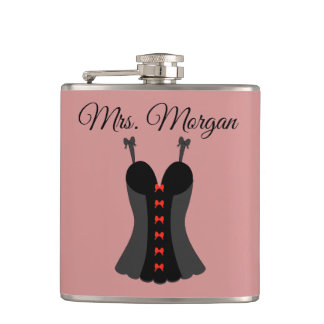 Lingerie Mrs. Bachelorette Party Hip Flask