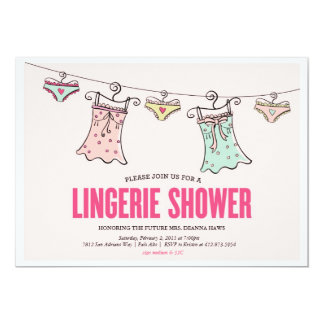 Lingerie Shower Bachelorette Party Wedding Shower Card