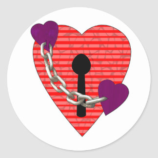 linked harts classic round sticker