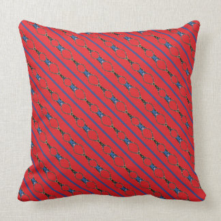 Linked Together Red Throw Pillow