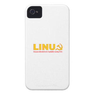 Linux because Microsoft is for capitalists Case-Mate iPhone 4 Case