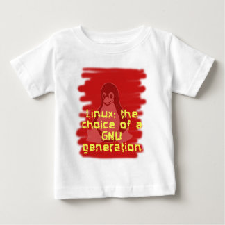 Linux: Choice of a GNU Generation Baby T-Shirt
