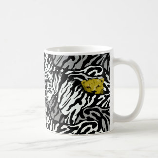 LION AND ZEBRAS COFFEE MUG