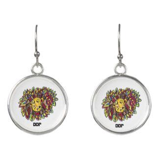 lion art one earrings