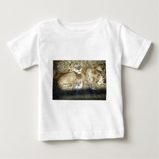 Lion Cubs and Lioness on Safari in Botswana Baby T-Shirt
