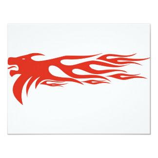Lion Flames 11 Cm X 14 Cm Invitation Card