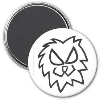 Lion Head 7.5 Cm Round Magnet