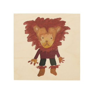 Lion Jungle Friends Baby Animal Water Color Wood Prints