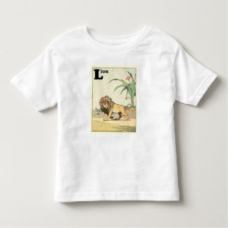 Lion on the Desert Savannah Alphabet Toddler T-Shirt