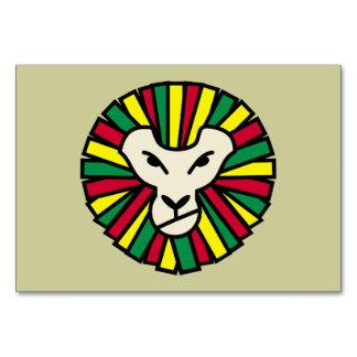 Lion Rastafarian Flag Card