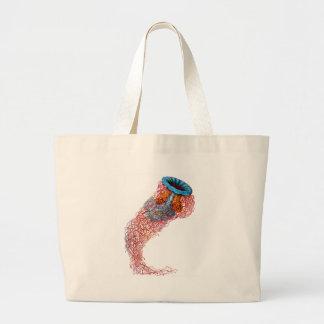 Lion's mane jellyfish large tote bag