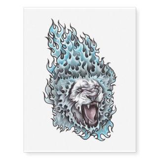 Lion temporary tattoo