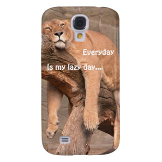 Lioness Lazy Day = Every Day Samsung Galaxy S4 Cas Galaxy S4 Case