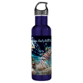 Lionfish on the Great Barrier Reef 710 Ml Water Bottle