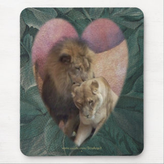 Lions Heart Mouse Pad