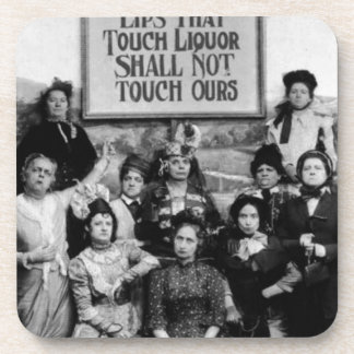 Lips That Touch Liquor Shall Not Touch Ours Drink Coaster