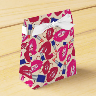 Lipstick Tubes, Red and Hot Pink Lips Favour Box