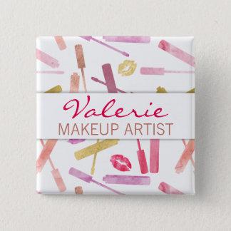 Lipsticks Glosses & Kiss Lip Prints Name Badge