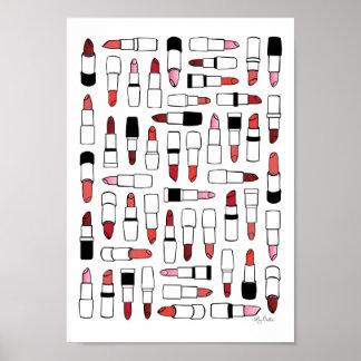 Lipsticks print