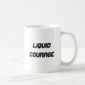 Liquid courage basic white mug