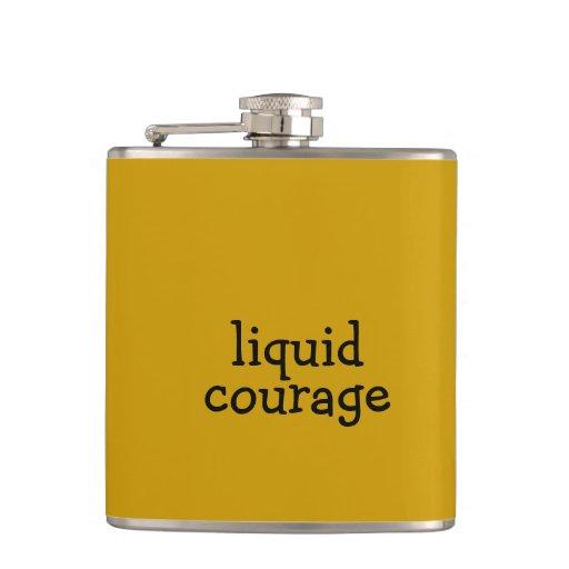 liquid courage hip flask