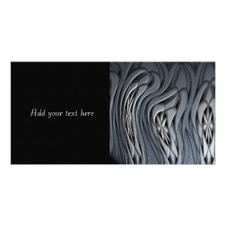 Liquid Silver Abstract Art Picture Card