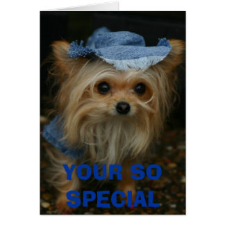lisa&zoe 127, YOUR SO SPECIAL Greeting Card