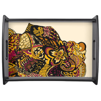Lisa's Lion yellow Service Trays