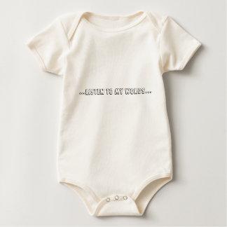 ...listen to my words... baby bodysuit
