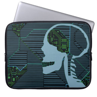 lit logicskull laptop sleeve