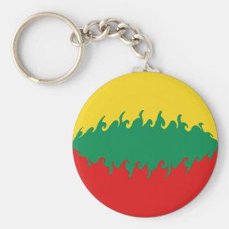 Lithuania Gnarly Flag Key Chain