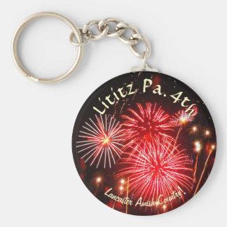 Lititz 4th of July Keychain