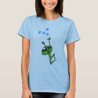 Little Alien Watches Butterflies T-Shirt